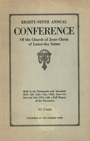 Music from April 1919 General Conference (1919)