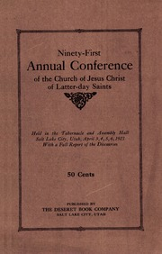 Music from April 1921 General Conference (1921)