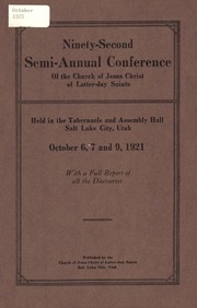 Music from October 1921 General Conference (1921)