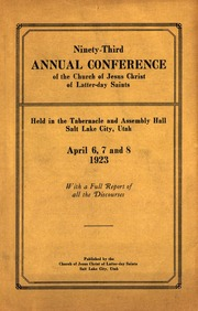 Music from April 1923 General Conference (1923)