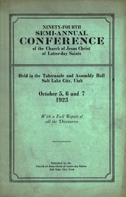 Music from October 1923 General Conference (1923)