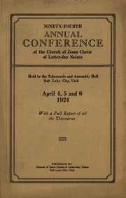 Music from April 1924 General Conference (1924)