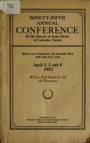 Music from April 1925 General Conference (1925)