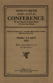 Music from October 1925 General Conference (1925)