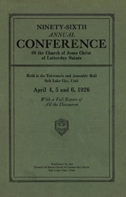 Music from April 1926 General Conference (1926)