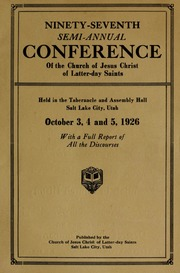 Music from October 1926 General Conference (1926)