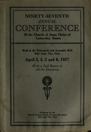 Music from April 1927 General Conference (1927)