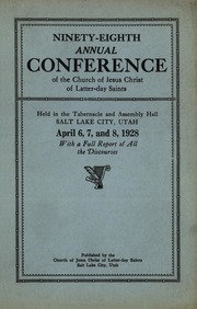 Music from April 1928 General Conference (1928)