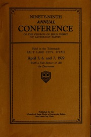 Music from April 1929 General Conference (1929)