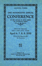 Music from April 1930 General Conference (1930)