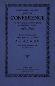 Music from April 1931 General Conference (1931)