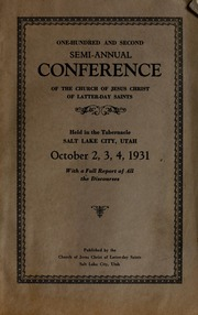 Music from October 1931 General Conference (1931)