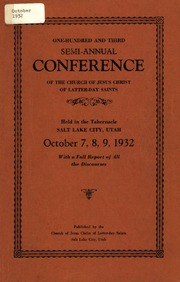 Music from October 1932 General Conference (1932)