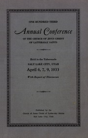 Music from April 1933 General Conference (1933)