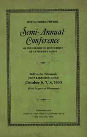 Music from October 1933 General Conference (1933)