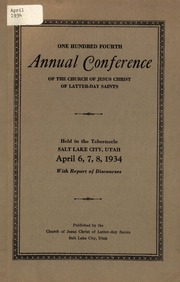 Music from April 1934 General Conference (1934)