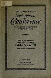 Music from October 1934 General Conference (1934)