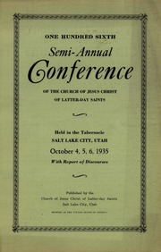 Music from October 1935 General Conference (1935)