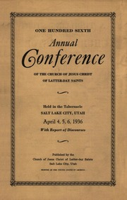 Music from April 1936 General Conference (1936)