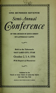Music from October 1936 General Conference (1936)