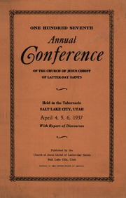 Music from April 1937 General Conference (1937)