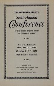 Music from October 1937 General Conference (1937)