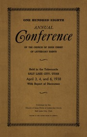 Music from April 1938 General Conference (1938)