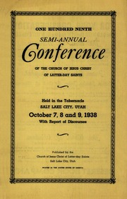 Music from October 1938 General Conference (1938)