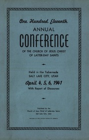 Music from April 1941 General Conference (1941)