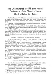 Music from October 1941 General Conference (1941)