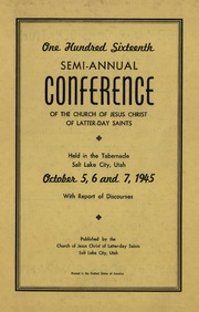 Music from October 1945 General Conference (1945)