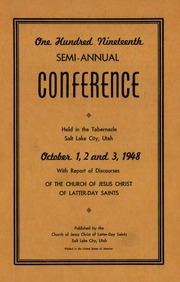 Music from October 1948 General Conference (1948)