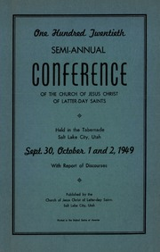 Music from October 1949 General Conference (1949)