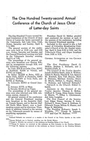 Music from April 1952 General Conference (1952)