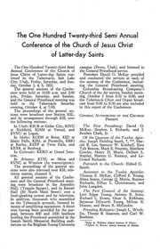 Music from October 1952 General Conference (1952)