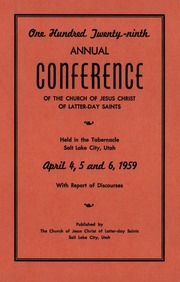 Music from April 1959 General Conference (1959)