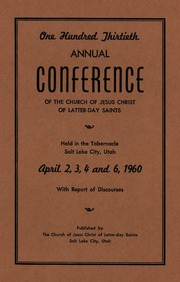 Music from April 1960 General Conference (1960)