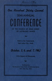 Music from October 1962 General Conference (1962)