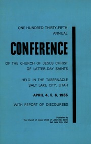 Music from April 1965 General Conference (1965)
