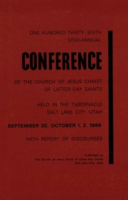 Music from October 1966 General Conference (1966)
