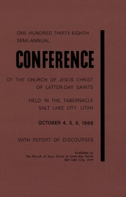 Music from October 1968 General Conference (1968)