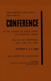 Music from October 1969 General Conference (1969)