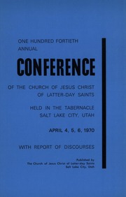 Music from April 1970 General Conference (1970)