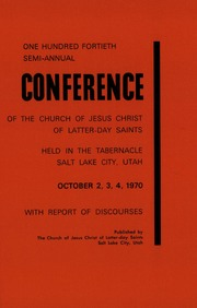 Music from October 1970 General Conference (1970)