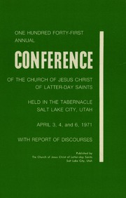 Music from April 1971 General Conference (1971)