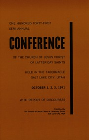 Music from October 1971 General Conference (1971)