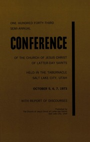 Music from October 1973 General Conference (1973)