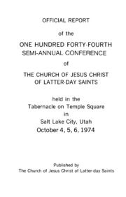 Music from October 1974 General Conference (1974)