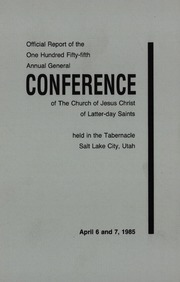 Music from April 1985 General Conference (1985)