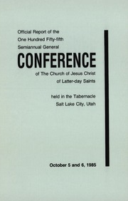 Music from October 1985 General Conference (1985)